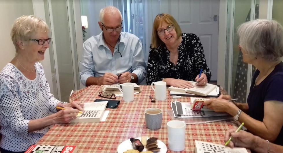 Cryptic Crossword group at work
