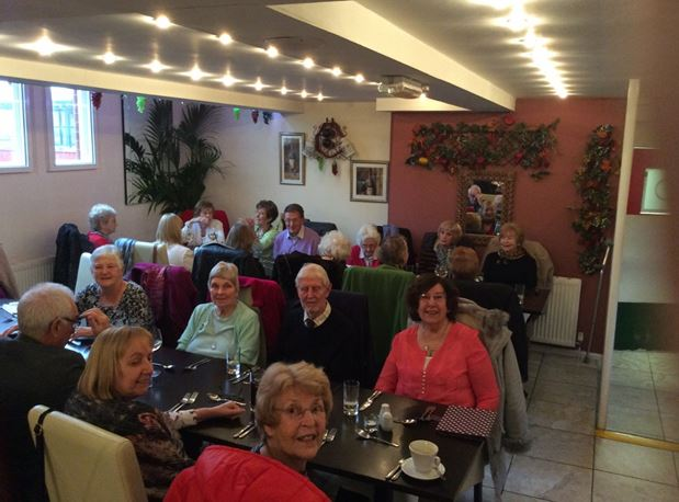 Luncheon group enjoy a recent meeting