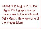 Bournville and Selly Manor Visit