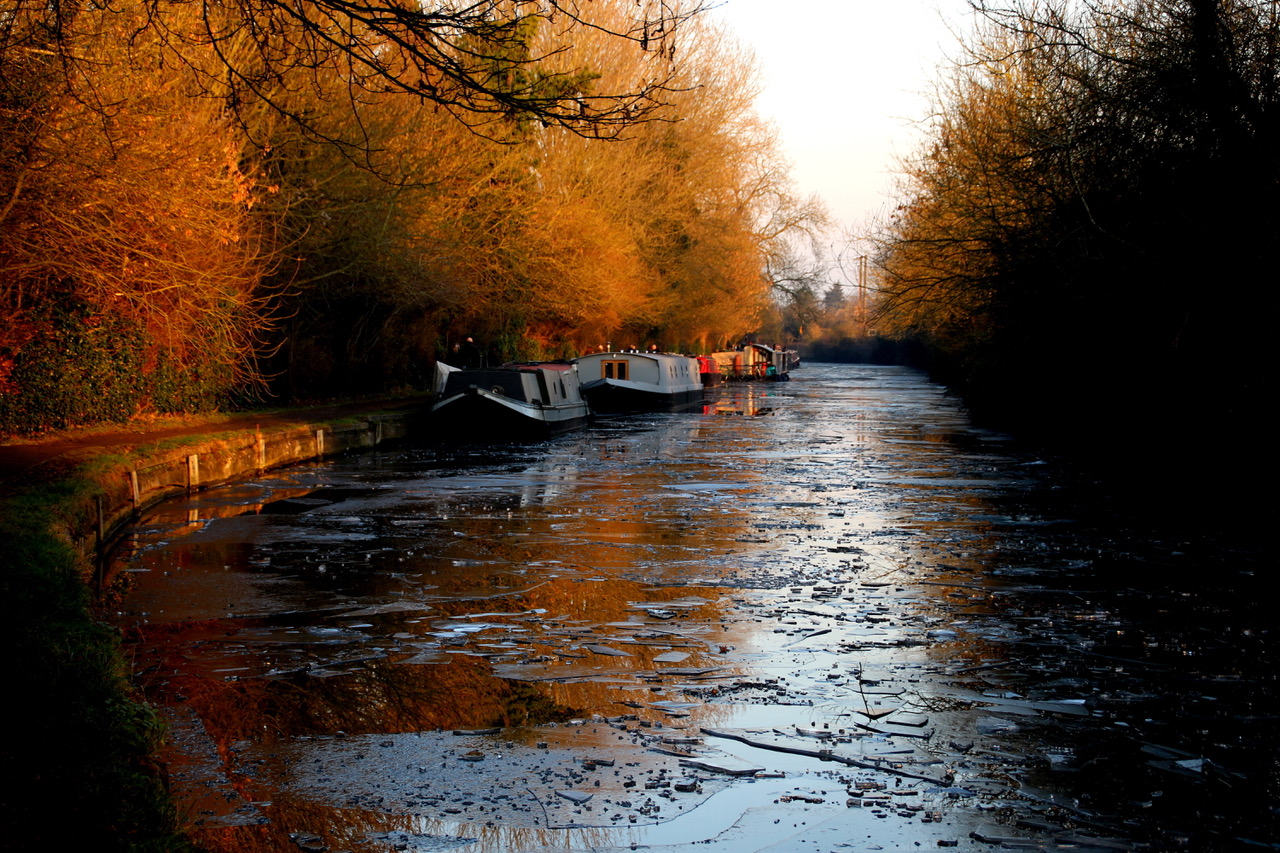 The canal in winter