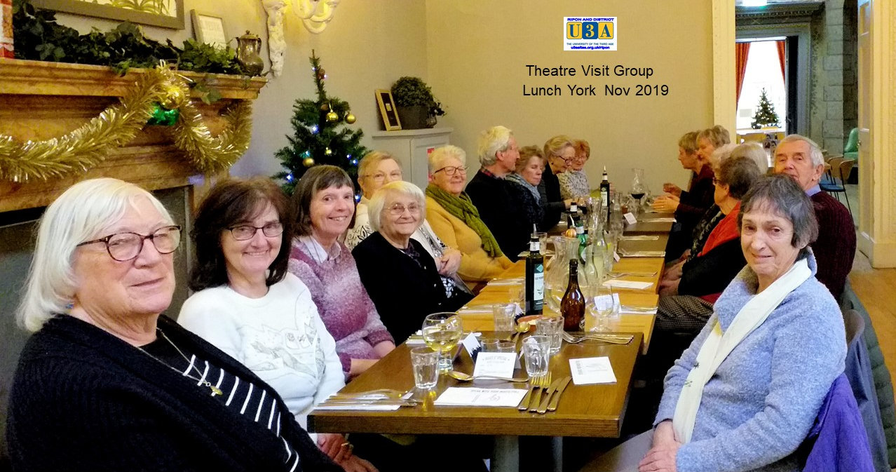 Theatre Group Lunch, York Nov 2019