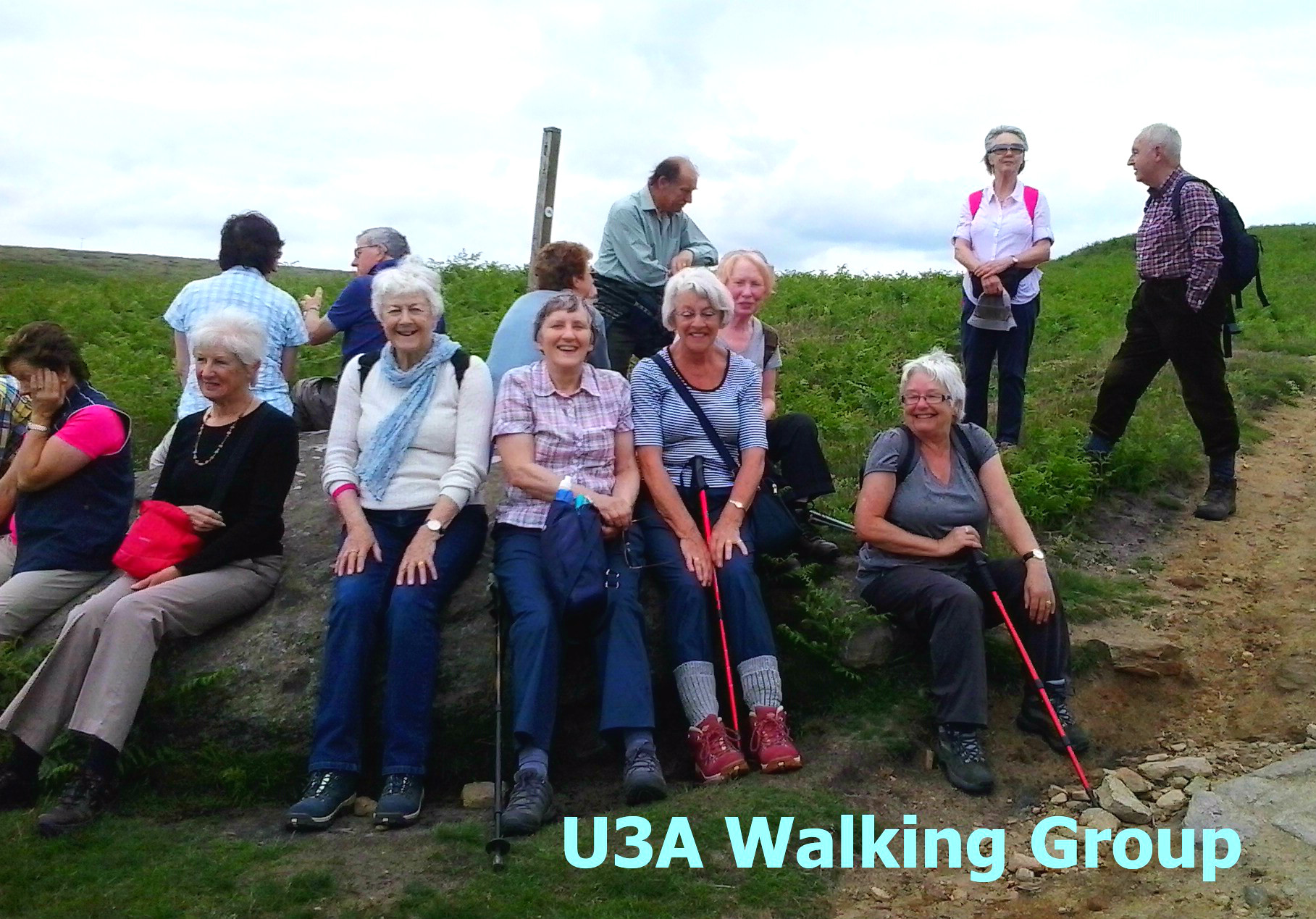 Out and about with the walking group