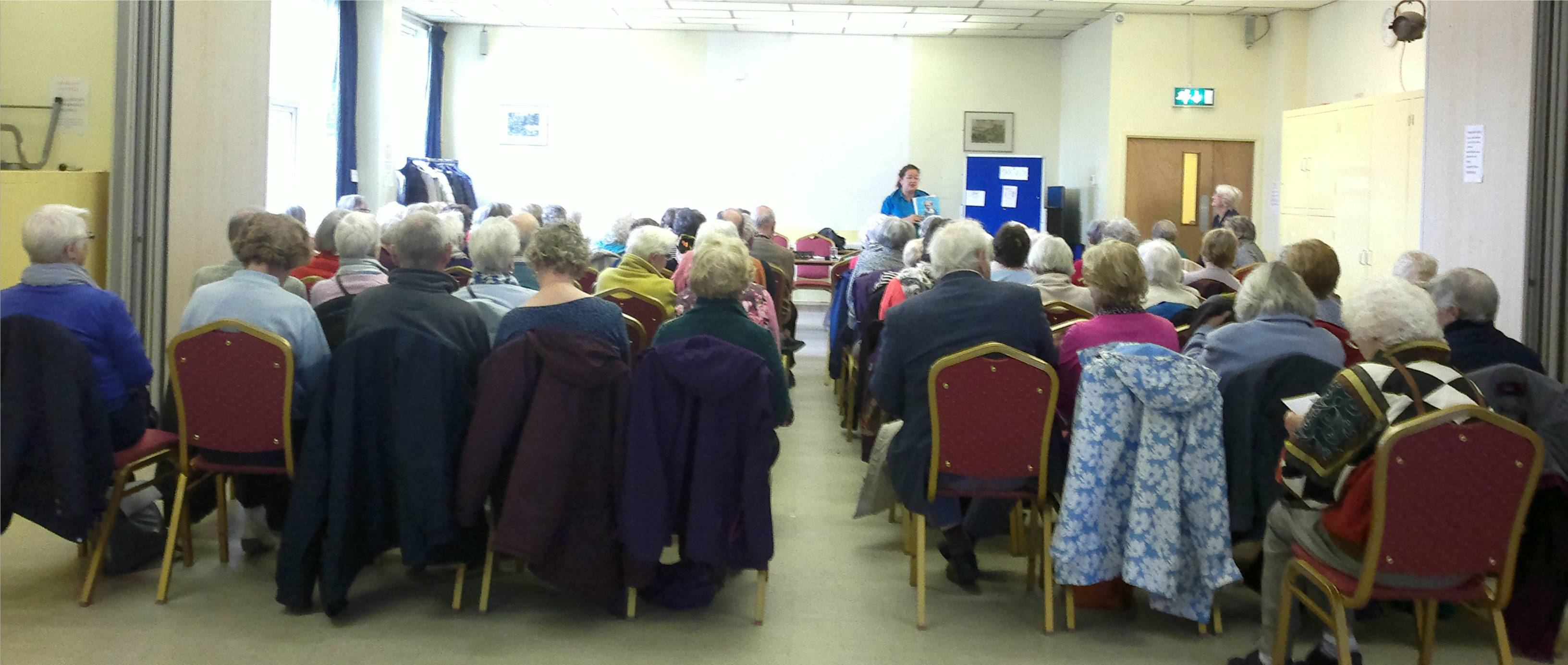A Photo of one of our Monthly Meetings