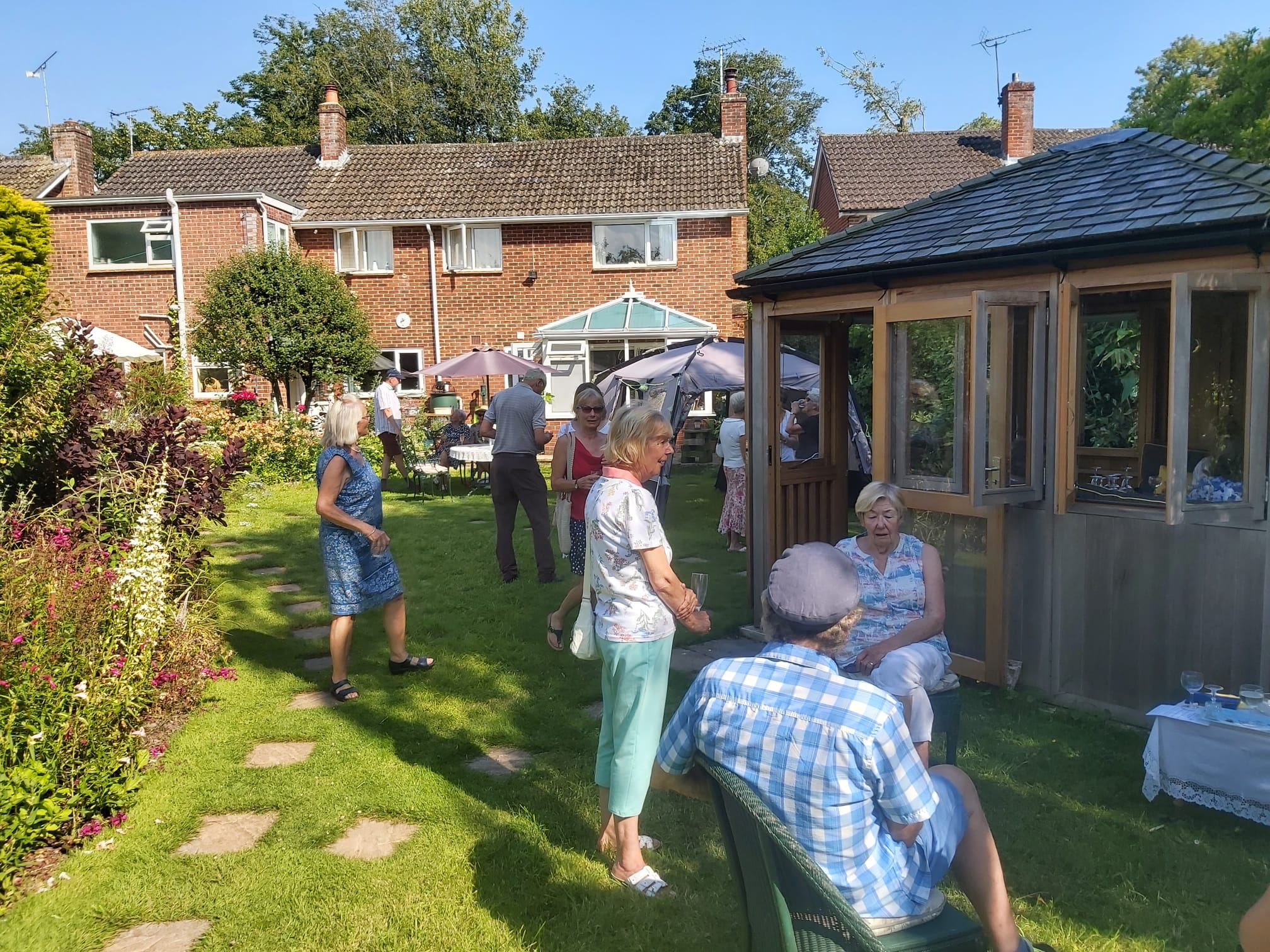 July 2021 garden party