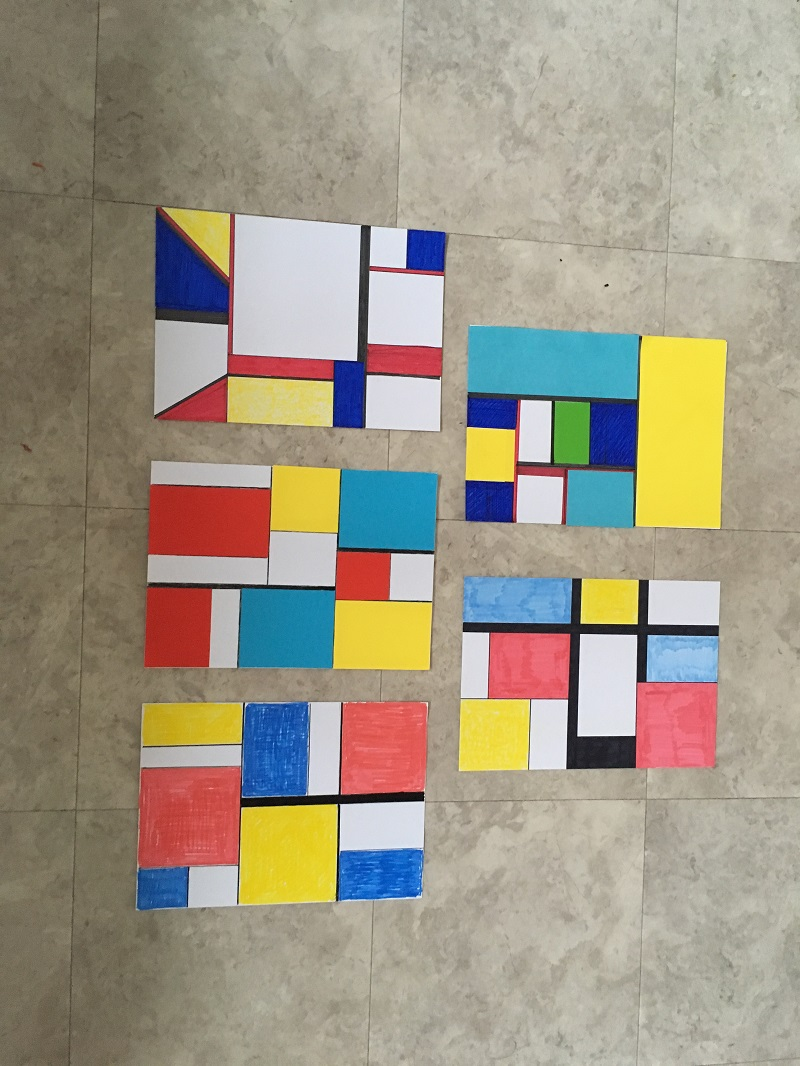 Art Group practical session on Mondrian