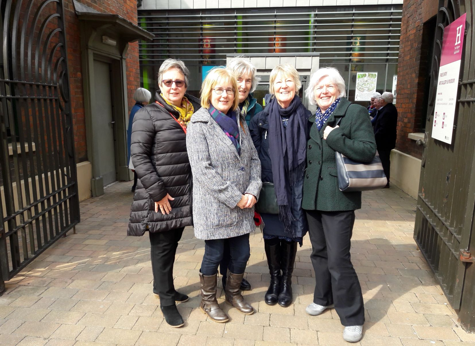 Members at the Higgins Gallery Bedford