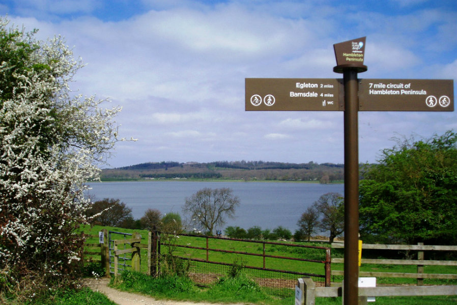 View across Rutland Water