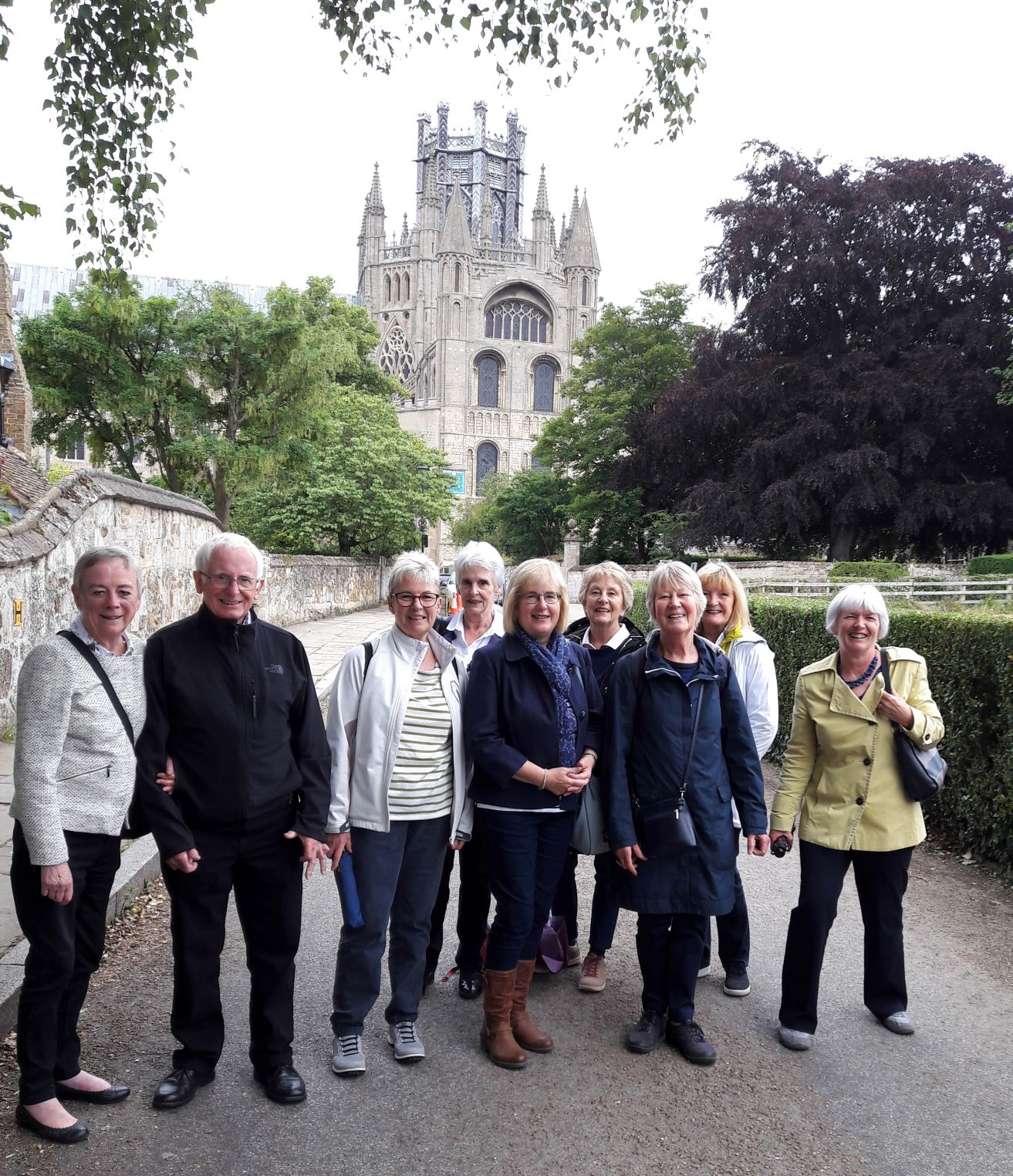 The group outside Ely Cathedral