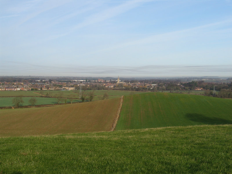 Vista across Oakham from the south