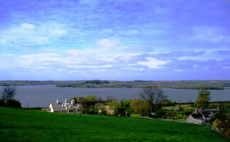 View across Rutland Water from Hambleton