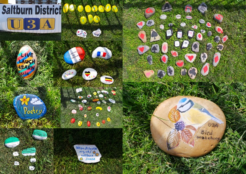 Some of the Stones produced for U3A day