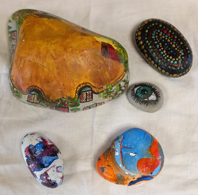 Coloured Rocks and Pebbles