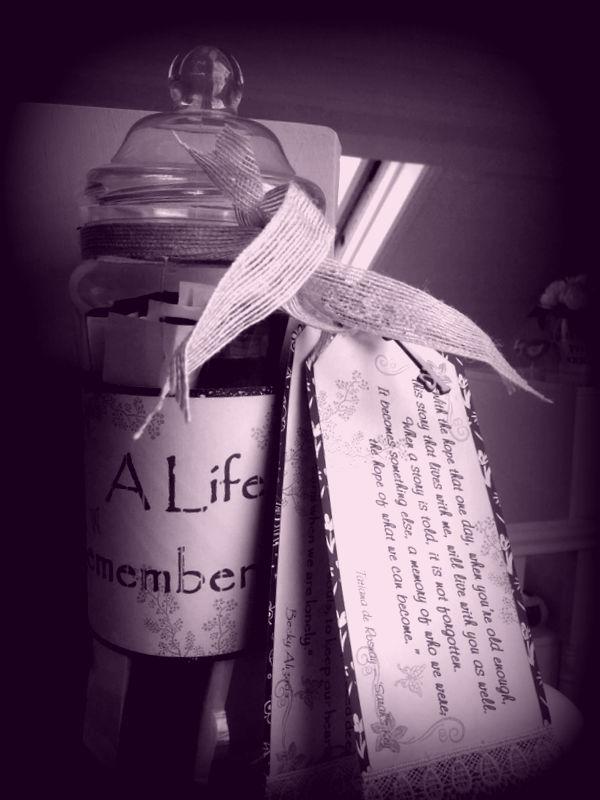 Our jar of treasured Memories