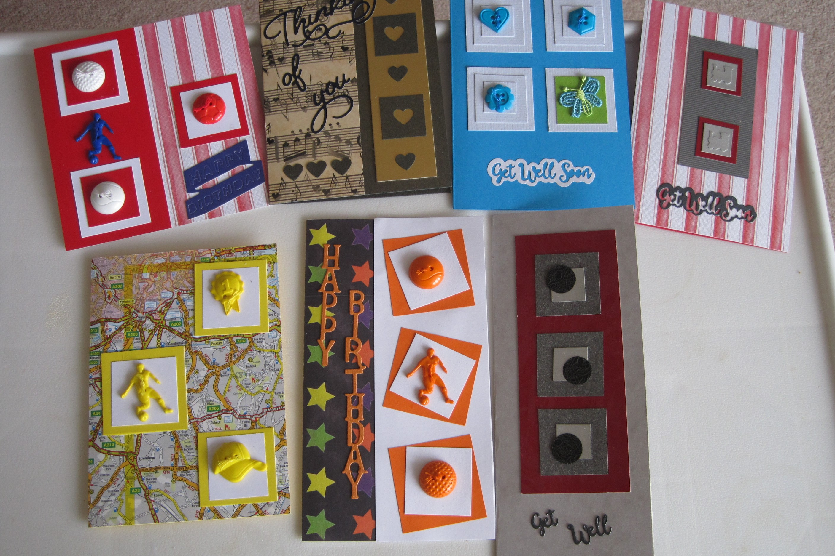 cards using squares March 2020