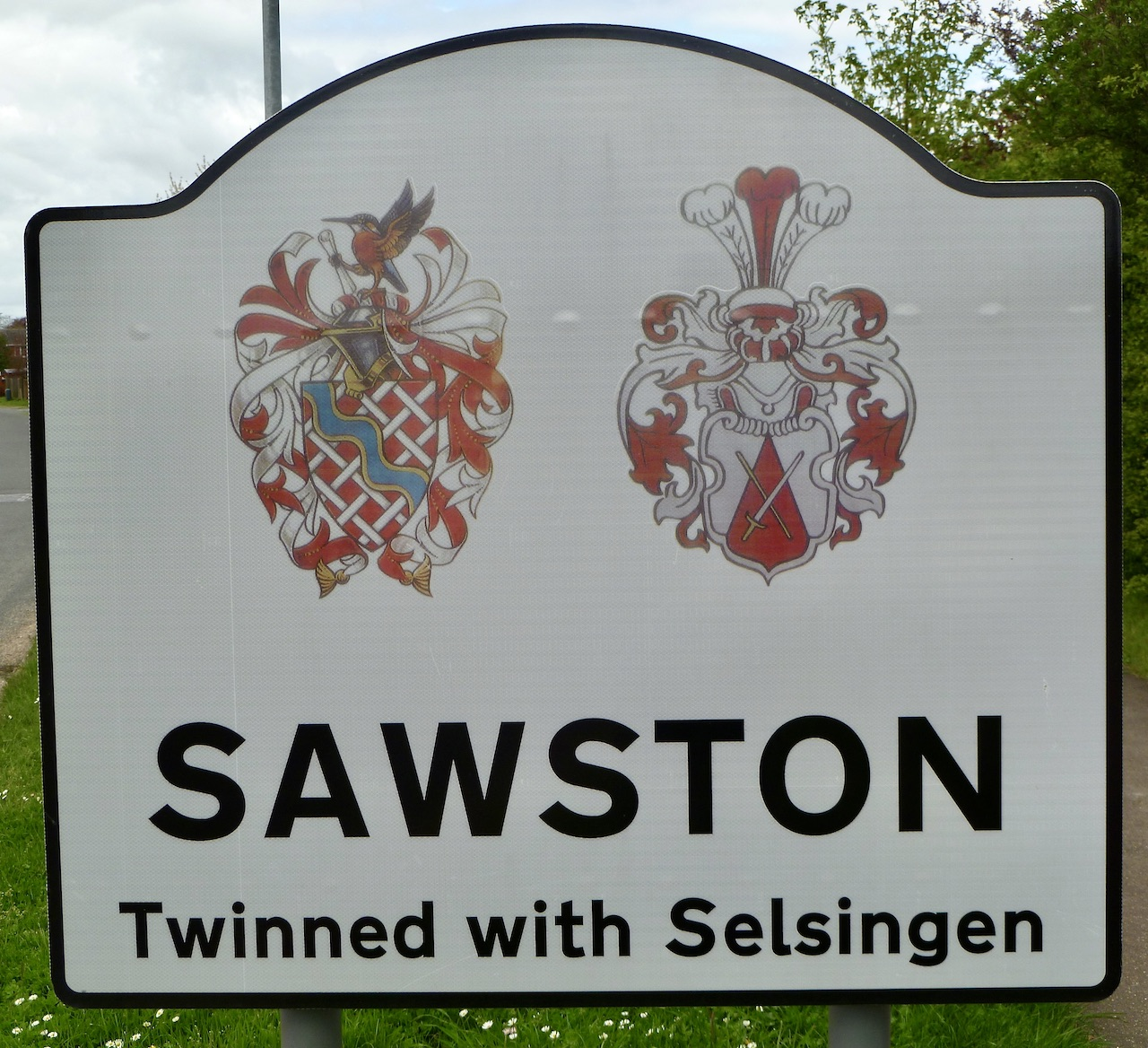 Sawston village sign