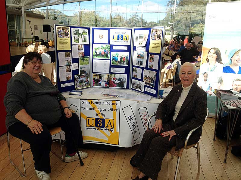 U3A stand at Hythe Festival