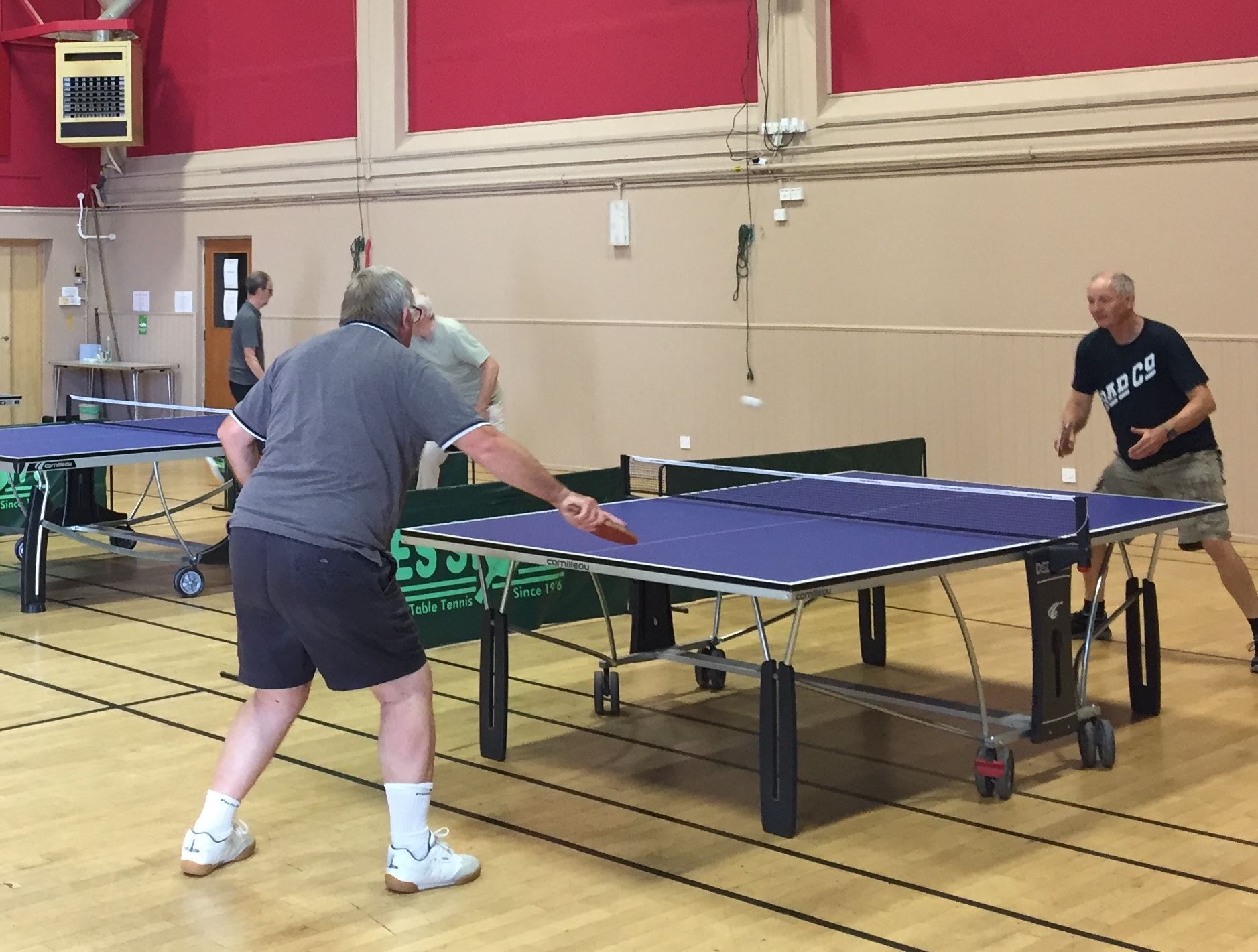 Table Tennis - play resumes