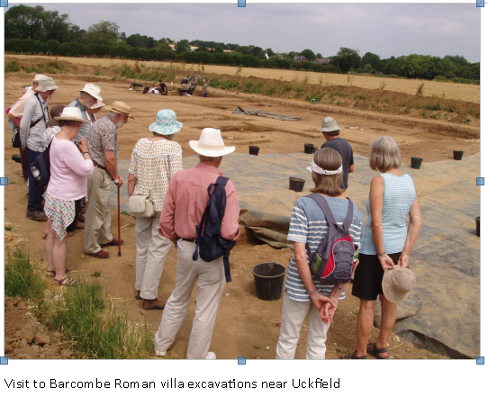 visit to Barcombe Roman Villa excavation