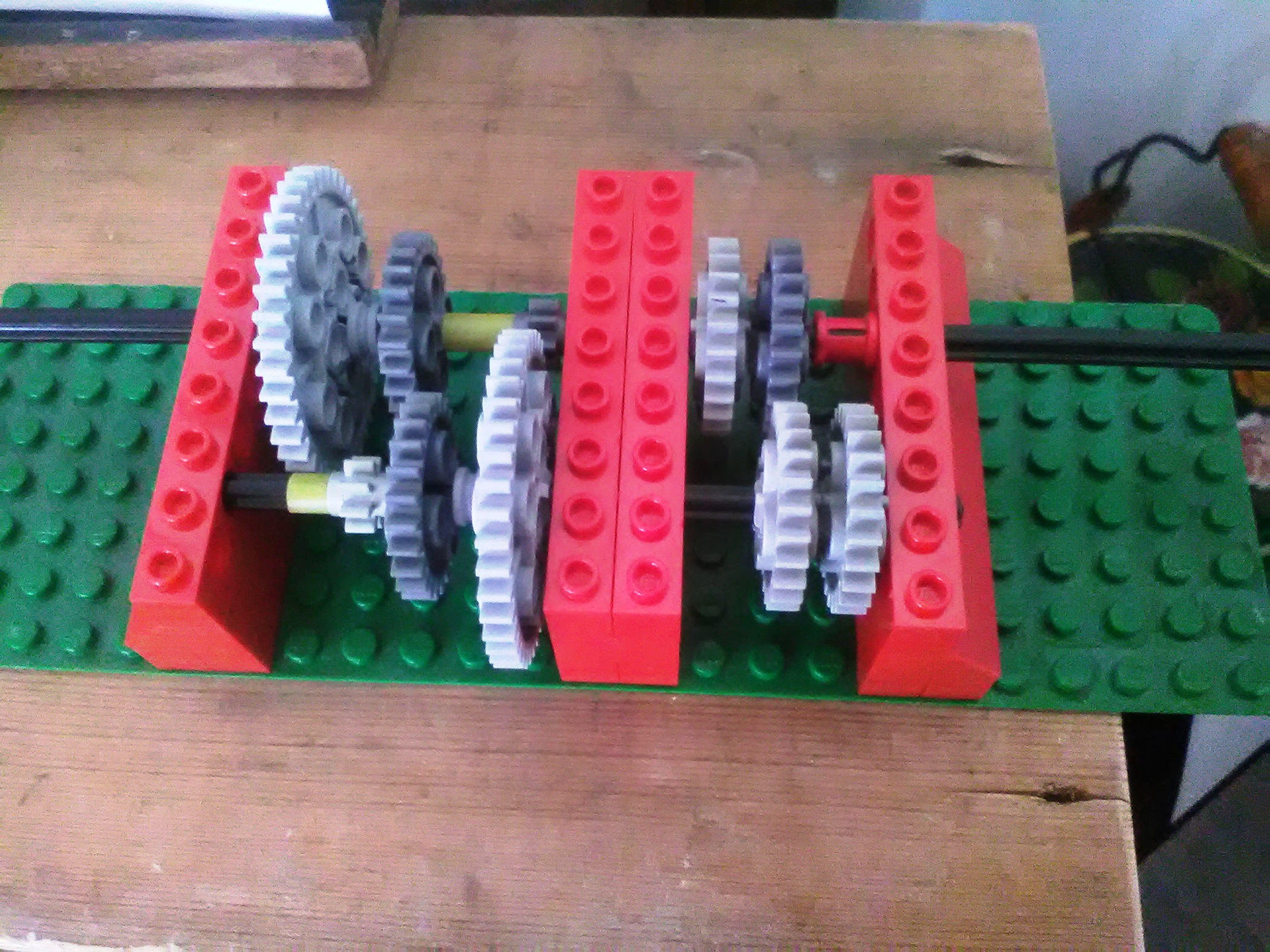 Demonstration model using Lego pieces