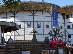 The outside of the Globe Theatre