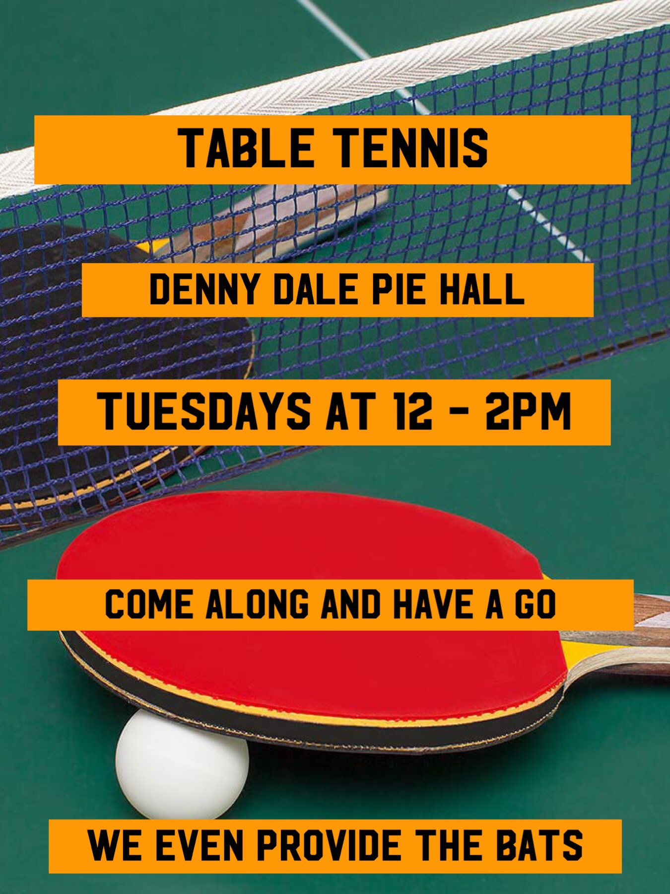 Come along to the Tuesday session