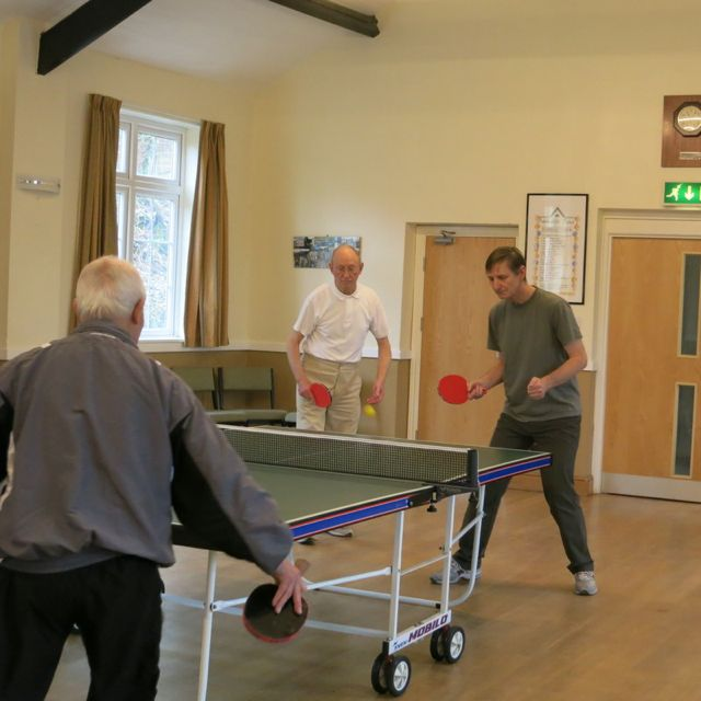 Table Tennis Group in action
