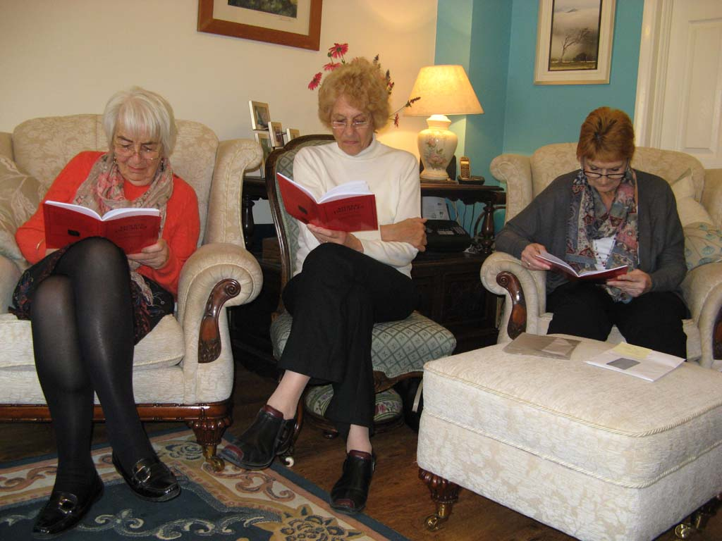 Three of our Play Reading group