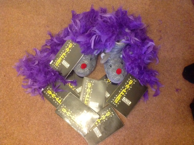 Feather Boa and Slippers!!