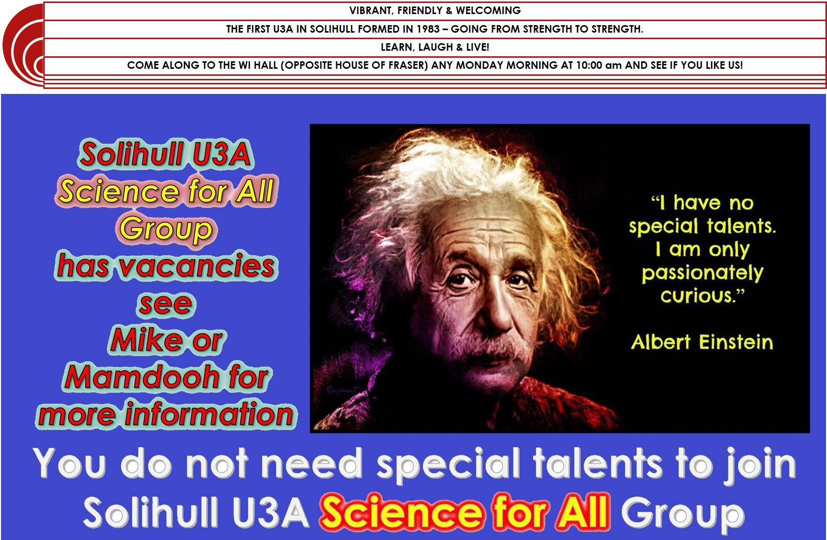 SOLIHULL U3A SCIENCE GROUP