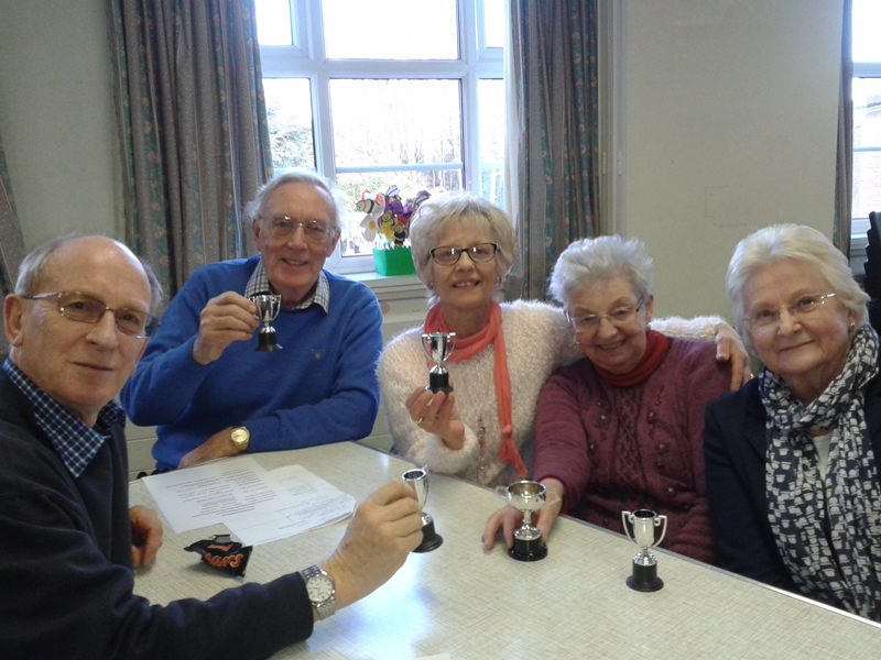 Winners of the History Group quiz