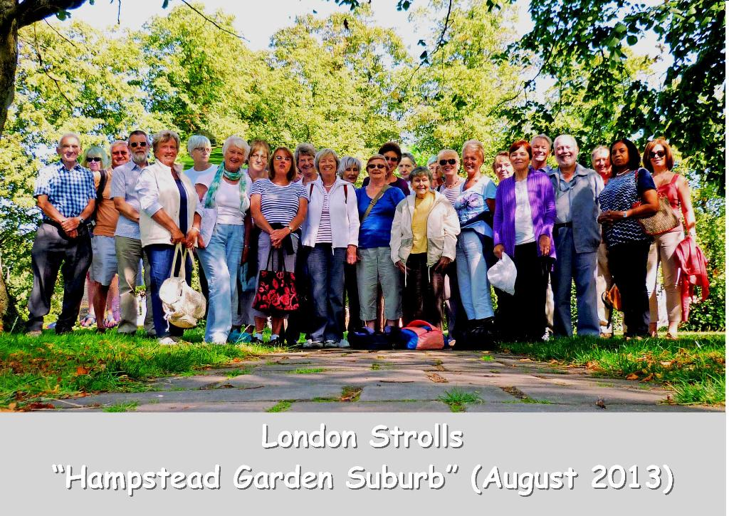 U3A Group with Joan Gardam at Hampstead