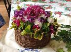 Flower arrangement in lidded box