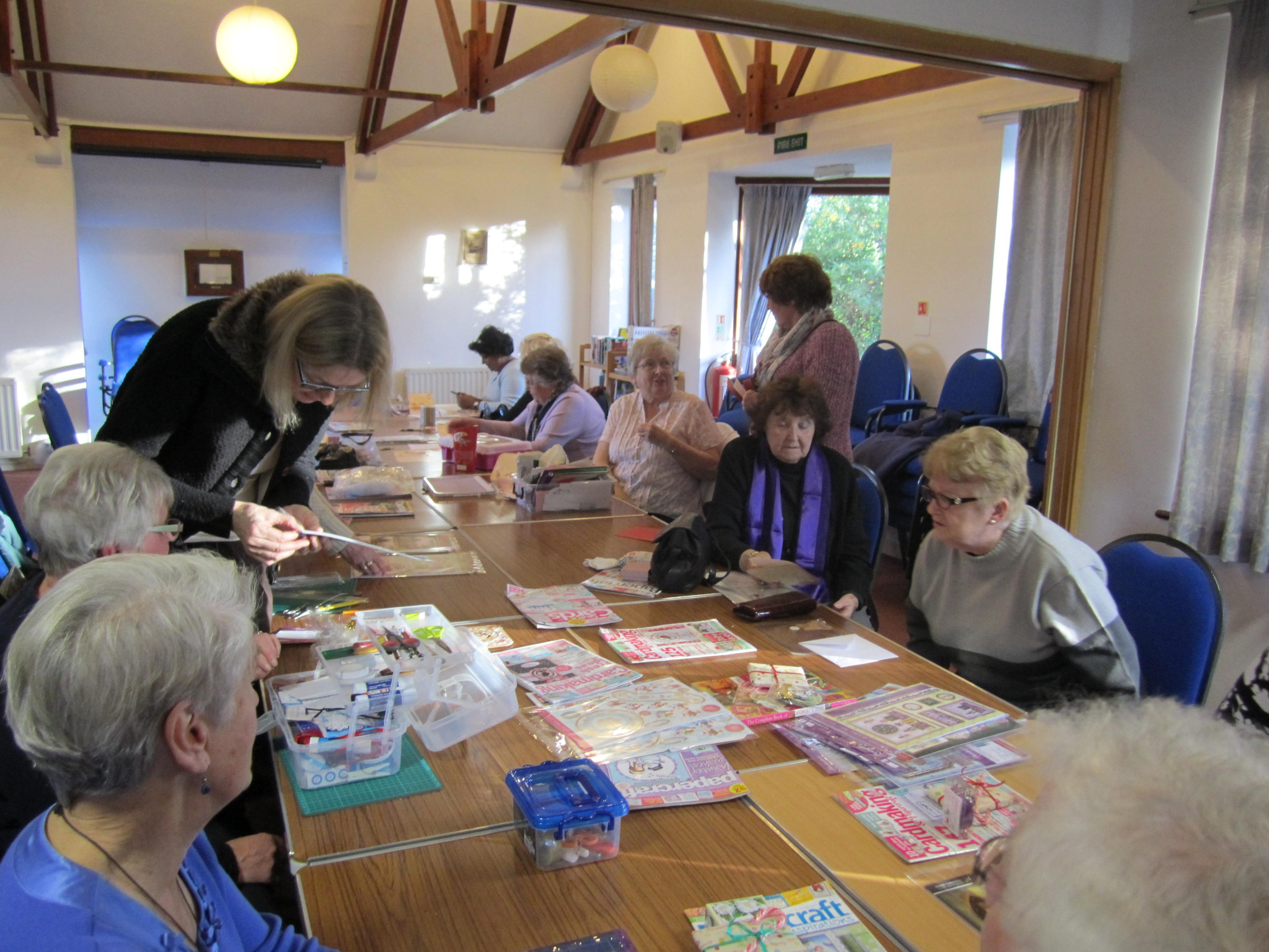 Card makers enjoying their afternoon