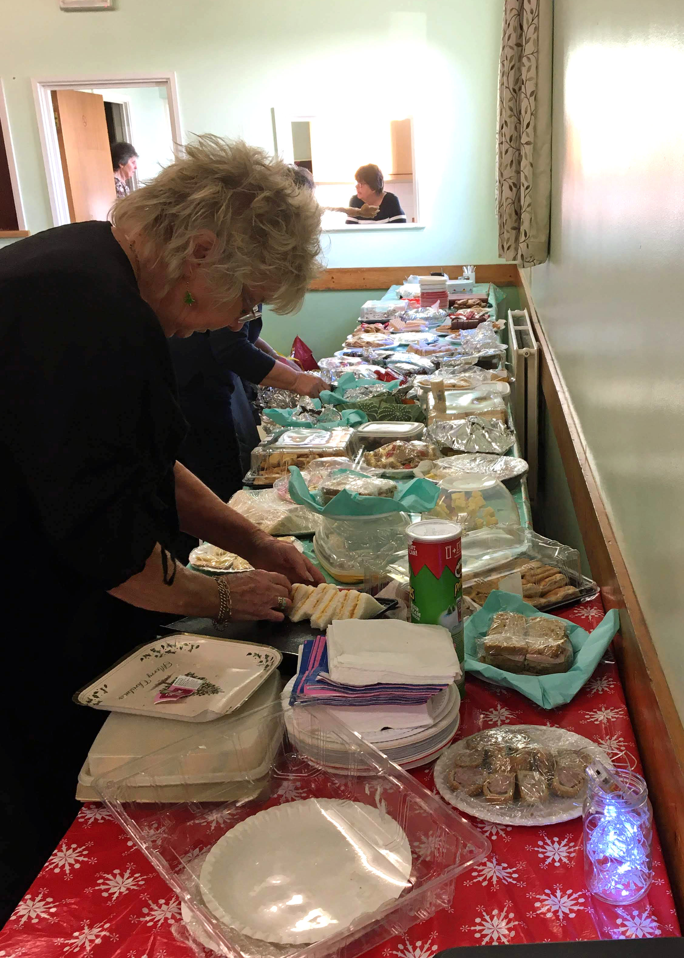 Setting out the buffet