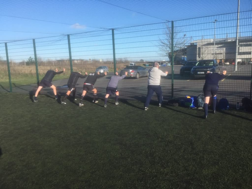 Warming up for walking football