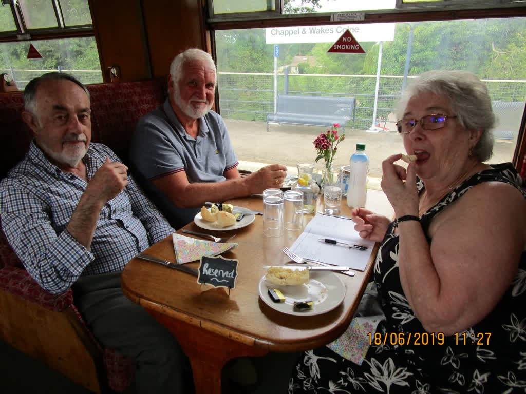 Tuesday Tearaways in a railway carriage