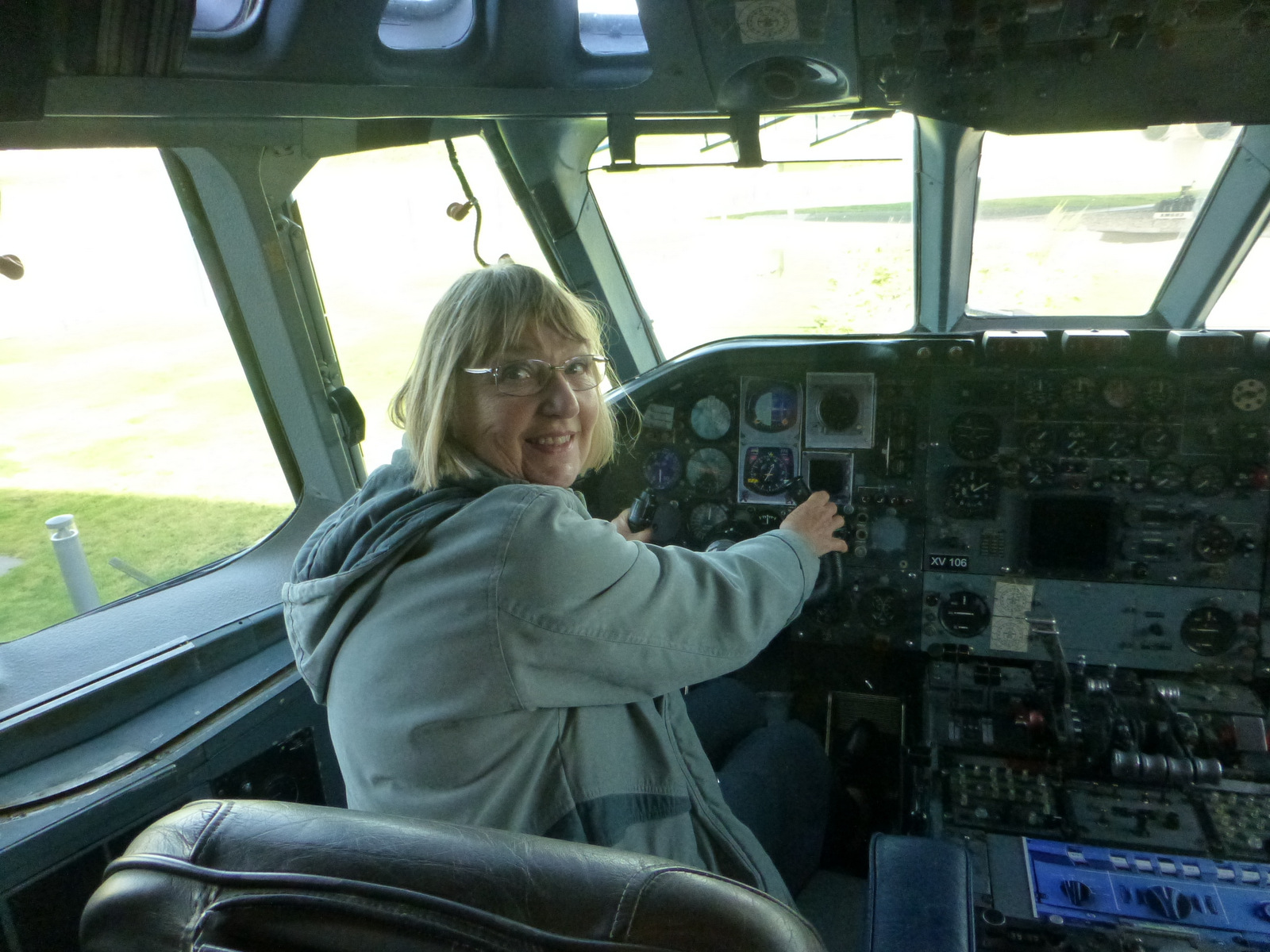 In the VC10 hot seat at AVRO museum