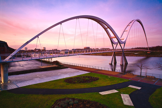 Infinity Bridge over the River Tees