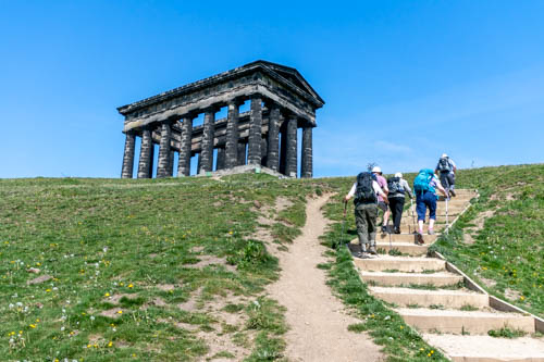 Climbing to Penshaw Monument 15 May 2019
