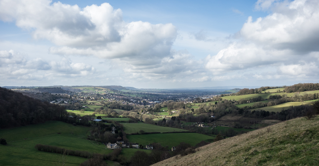 Stroud from Swift's Hill