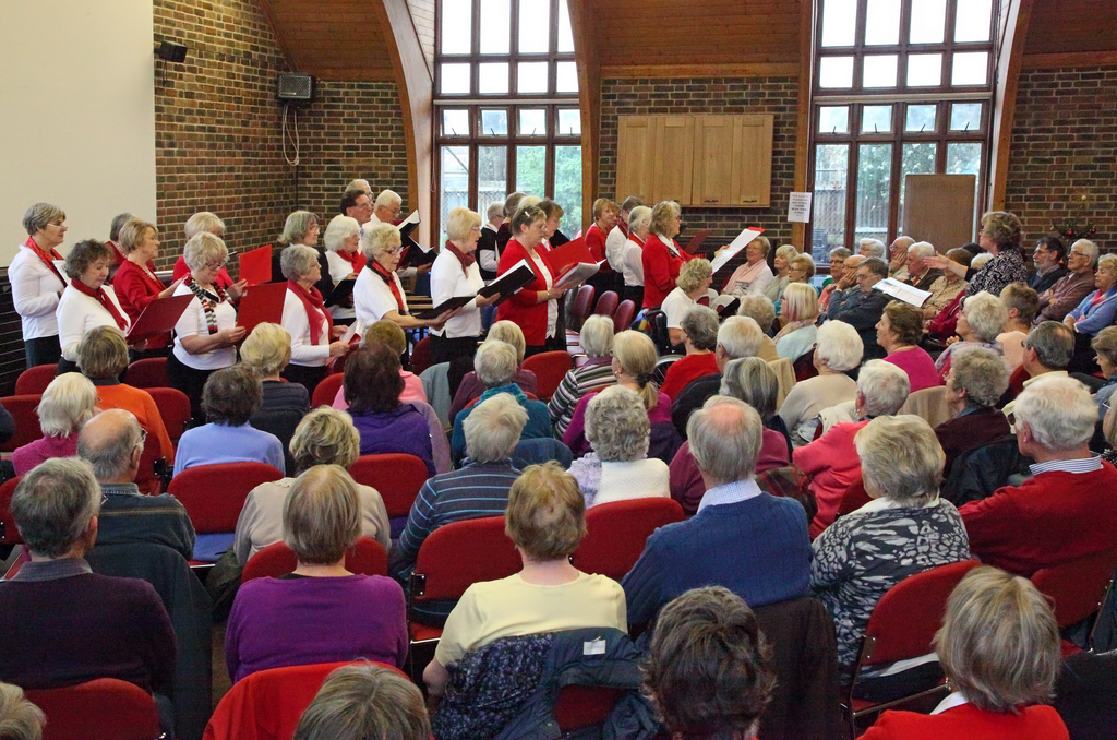 The Choir at Decembers Monthly Meeting
