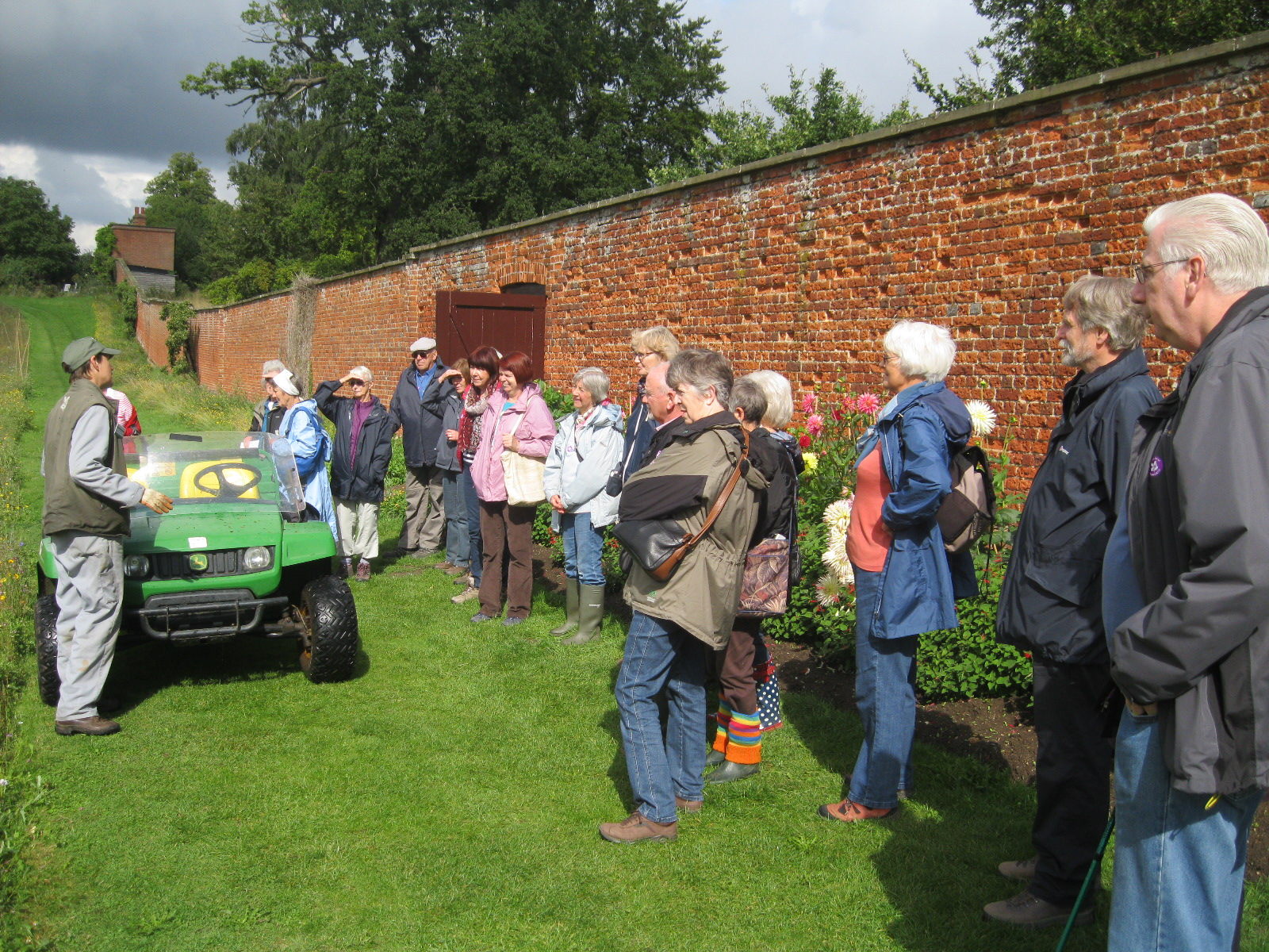Learning about Ickworth walled garden