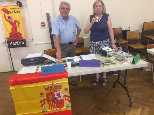 Languages Table at Open Day