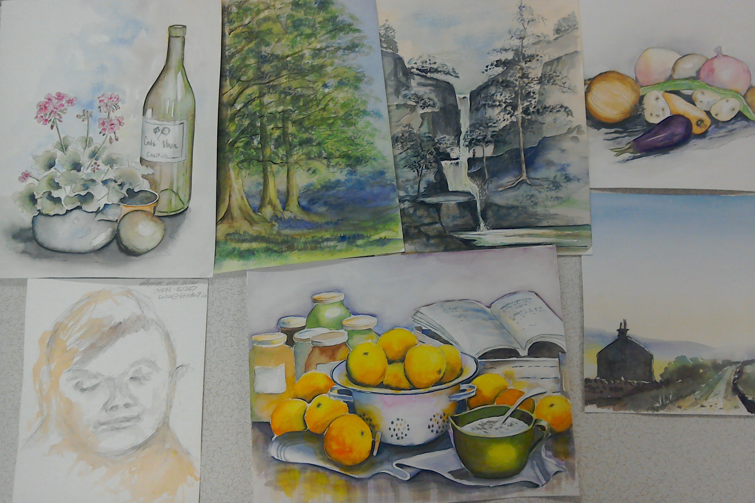 Tuesday Art Group paintings