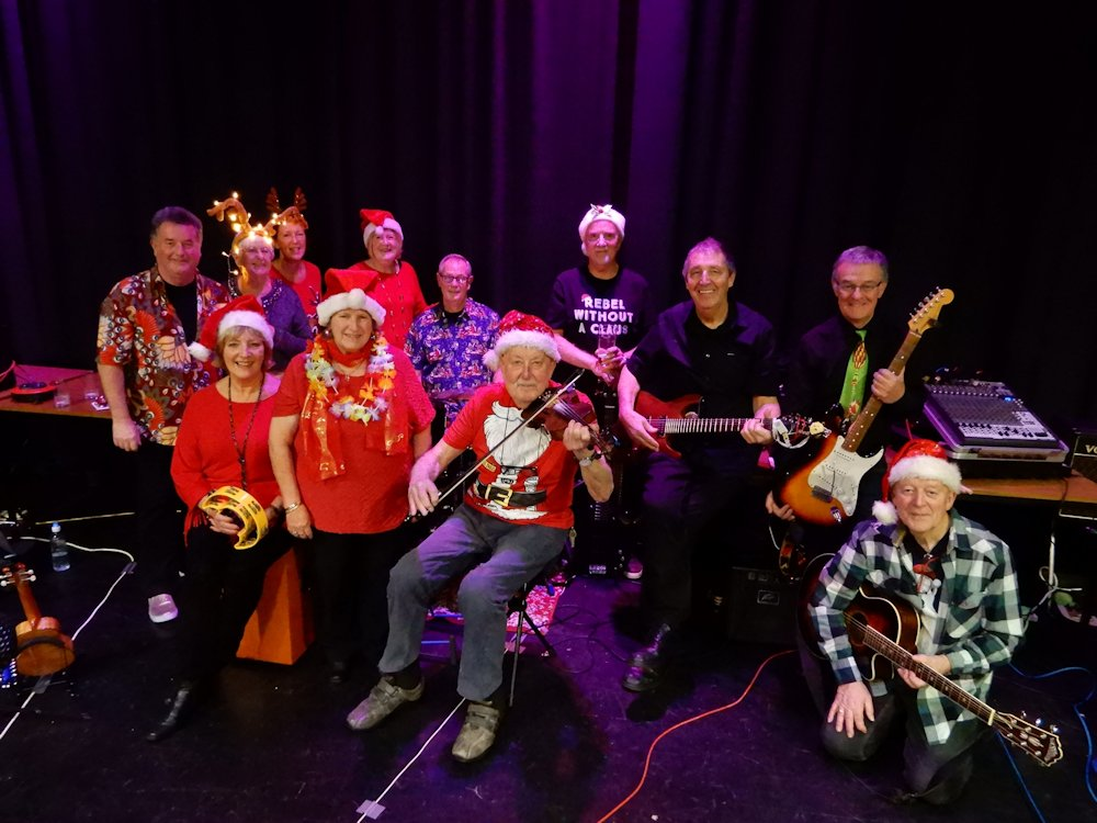 The band at Christmas 2018