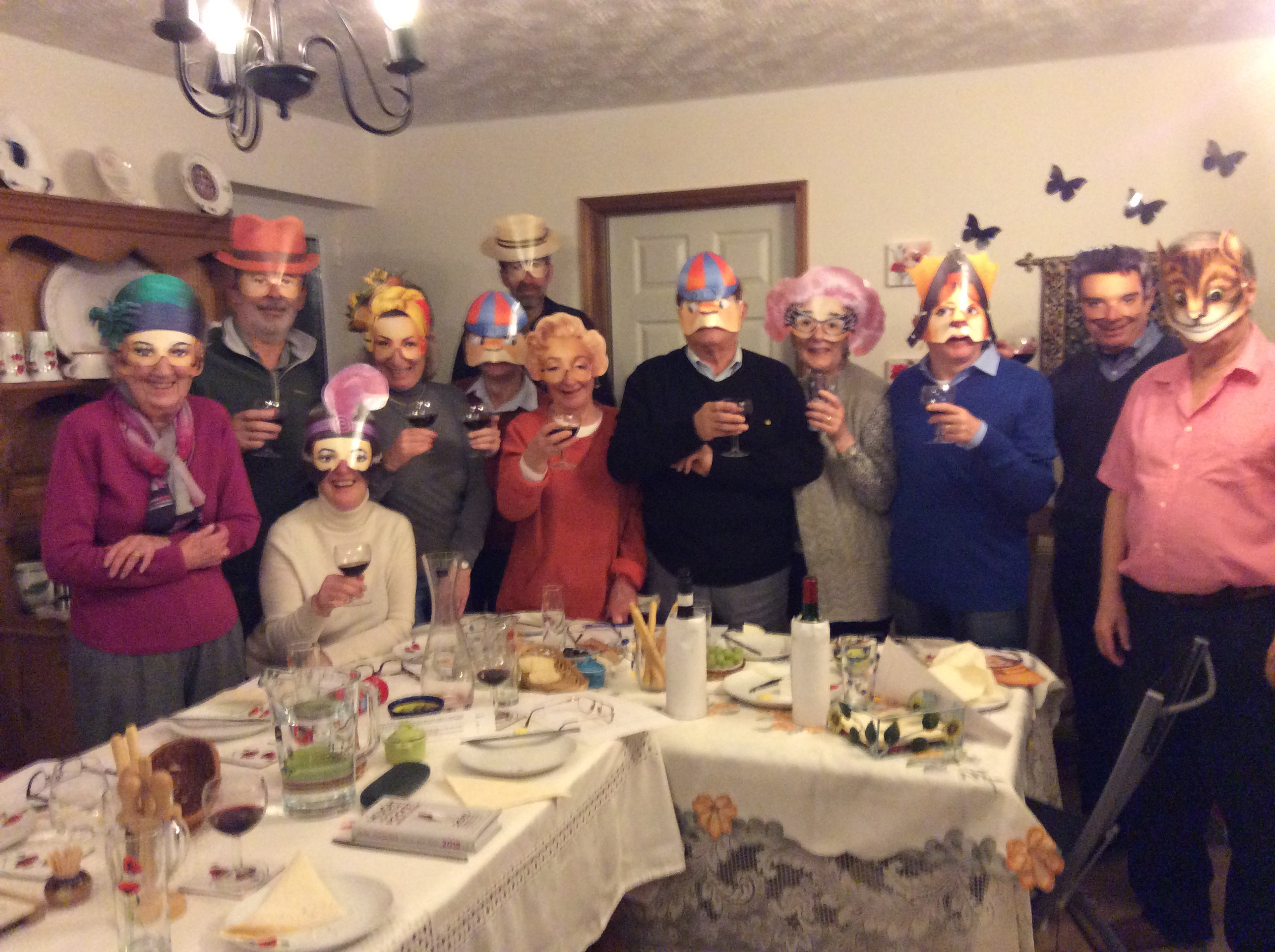 Masked tasters at our latest evening!