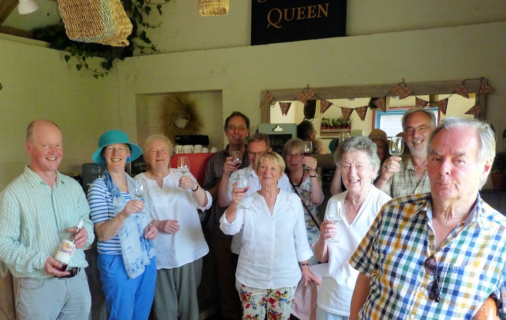 Wine tasters visit Wyken Vineyard