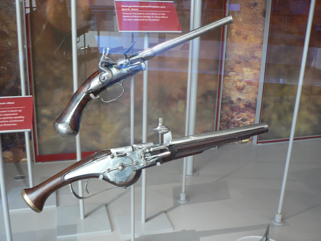 Wheel-lock & Flintlock pistols 1640s