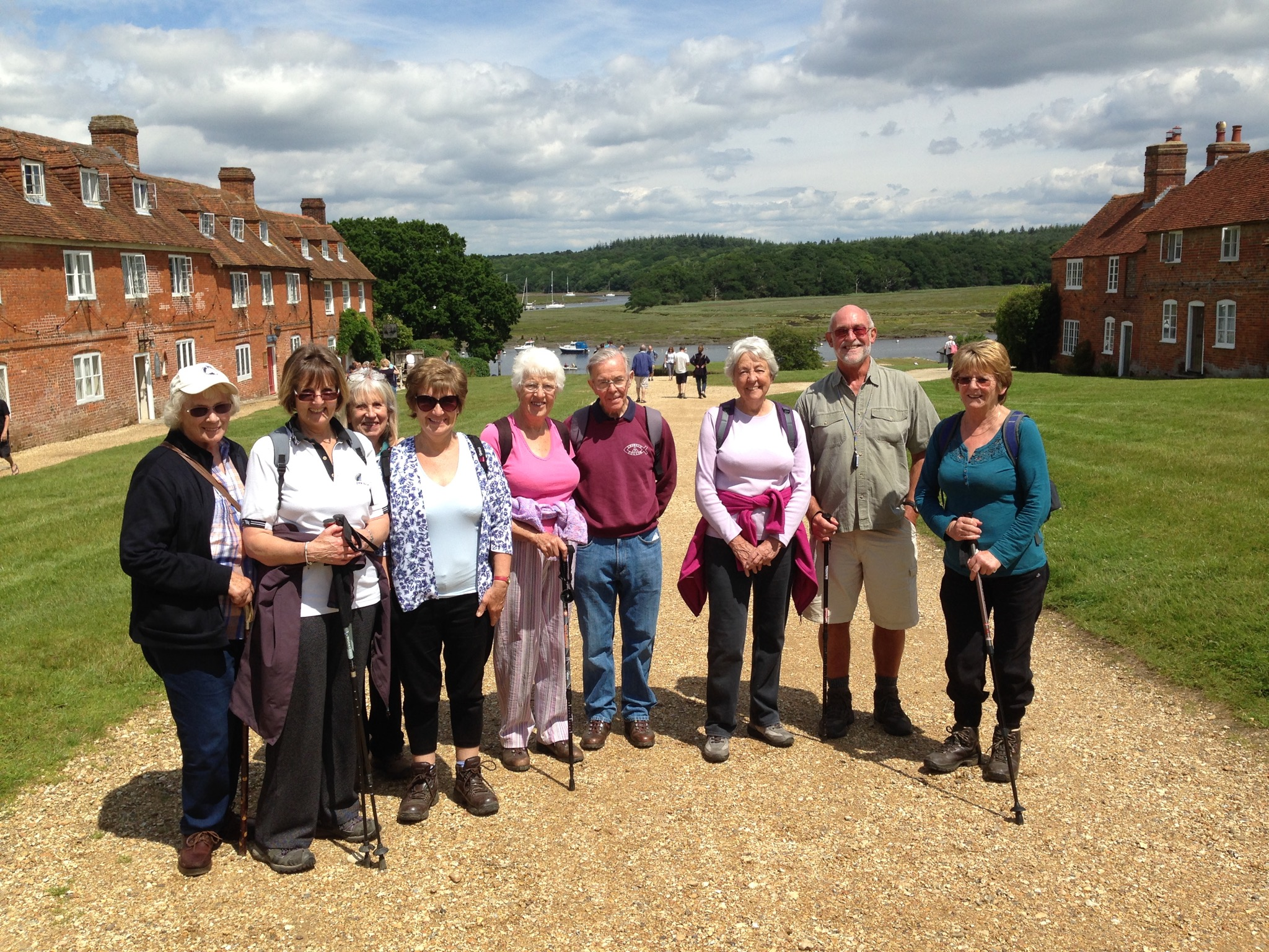 Some of our U3A members at Bucklers Hard