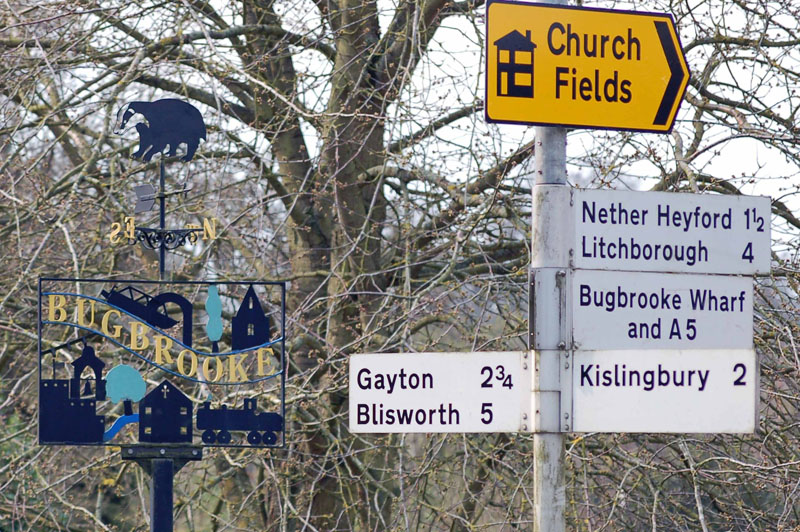 Signs at The Green in Bugbrooke